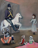 on a horse with no name,2012, Oel auf Leinwand, 190x150cm